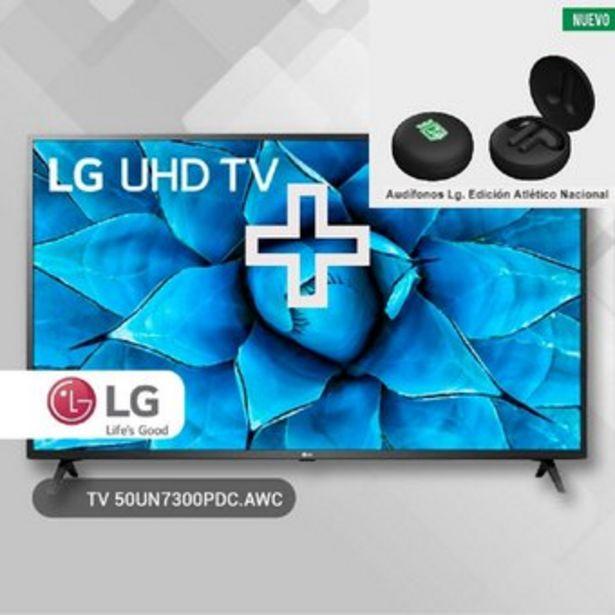 """Oferta de Combo Televisor Lg 50""""  Smart Tv Led+ Audífonos Lg Atlético Nacional por $1759900"""