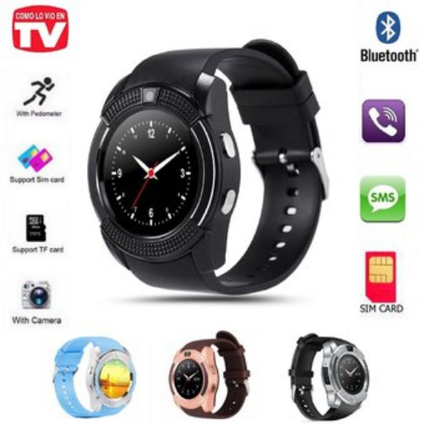 Oferta de Reloj Inteligente Smartwatch Micro SD Bluetooth Tipo Gear Samsung V8 por $61900