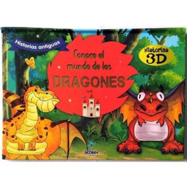 Oferta de Libro Infantil De Historias De Valores 3D Sicoben - Dragones 3D por $18000
