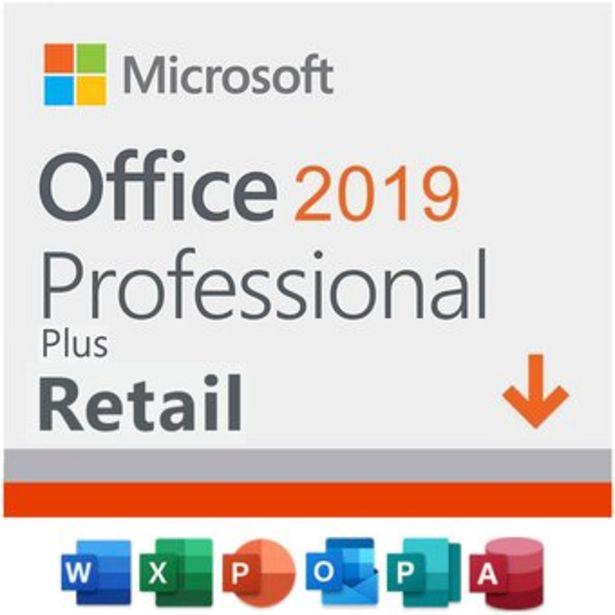 Oferta de Office Professional 2019 Plus 1 PC Retail por $49900