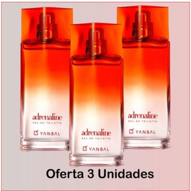 Oferta de Perfume Mujer Adrenaline yanbal 75ml Pack 3 Unidades por $160000