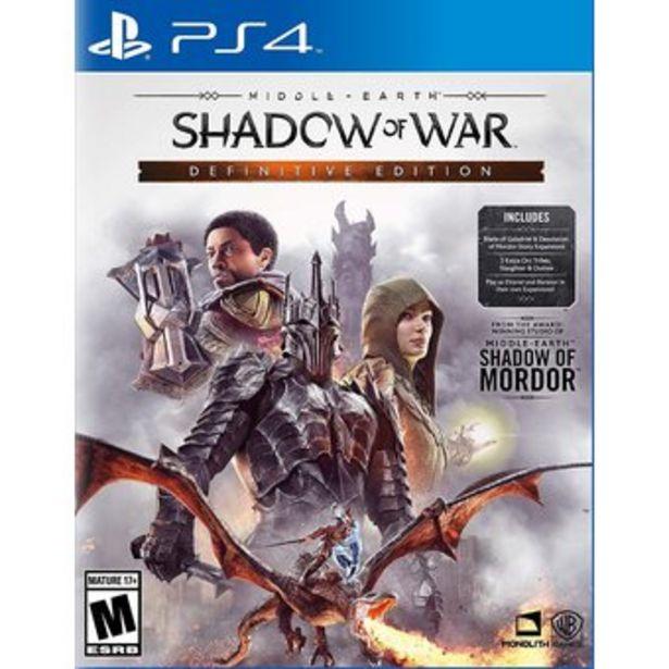 Oferta de Shadow of War Definitive Edition (2 discos) en Español - PlayStation 4 por $89990