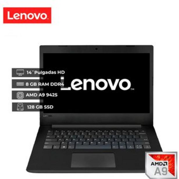 Oferta de Portátil Lenovo V145 14AST AMD A9 Ram 8GB 128GB Ssd 14 Free Dos Black por $1499000