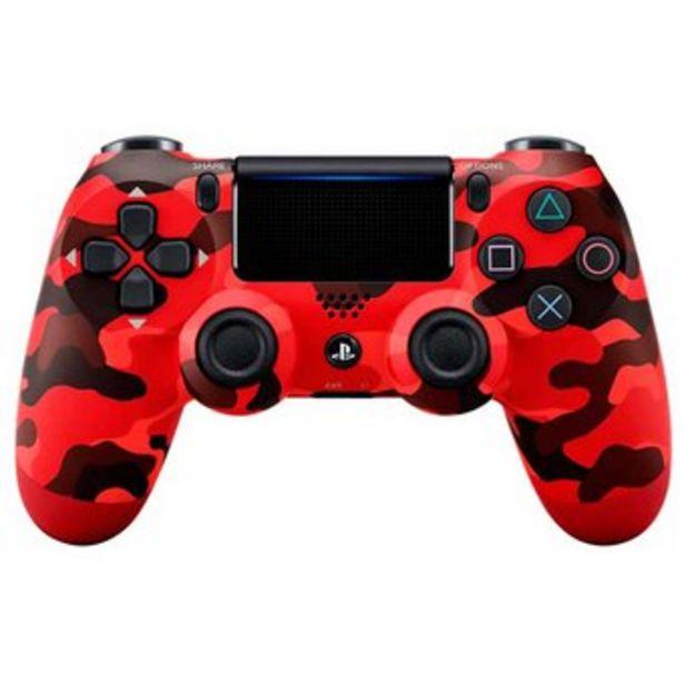 Oferta de Control Playstation 4 Ps4 Generico Tactil Recargable Camuflado Rojo por $78400