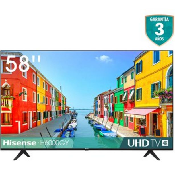 Oferta de Televisor Hisense 58 Pulgadas Led 4K Ultra Hd Smart Tv Hisense por $1549900