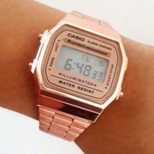 Oferta de Reloj Retro color Oro Rosado Mujer por $49900
