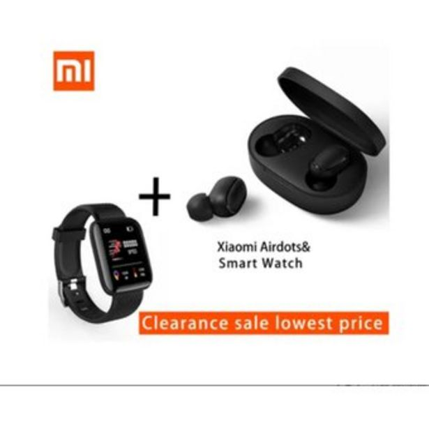 Oferta de Xiaomi Airdots Auriculares Inalámbricos Con Pulsera InteligenteI por $124900