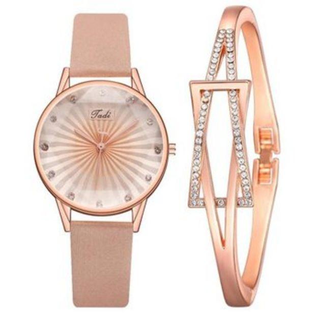 Oferta de Vestido Elegante Reloj Pulsera De Dama Ocio Degradado Reloj por $87270