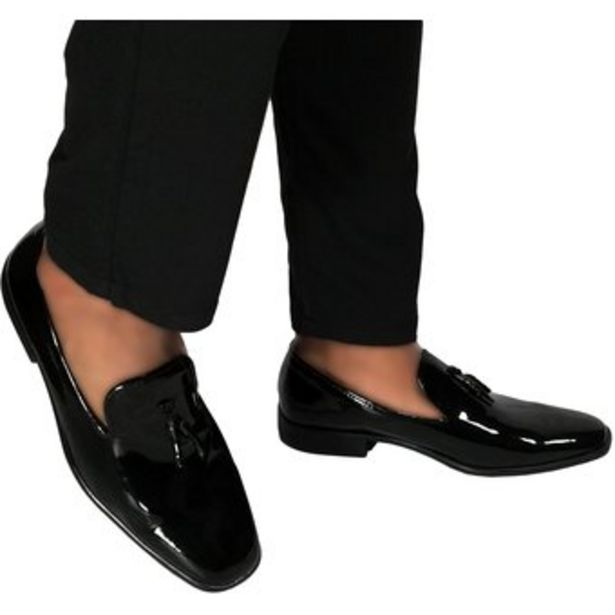 Oferta de Zapatos Loafer Outfit Charol Negro por $65100