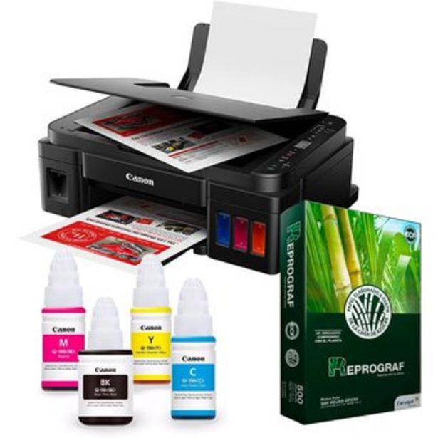 Oferta de Impresora Multifuncional WIFI Canon G3110 Tintas Originales  Resma por $599900