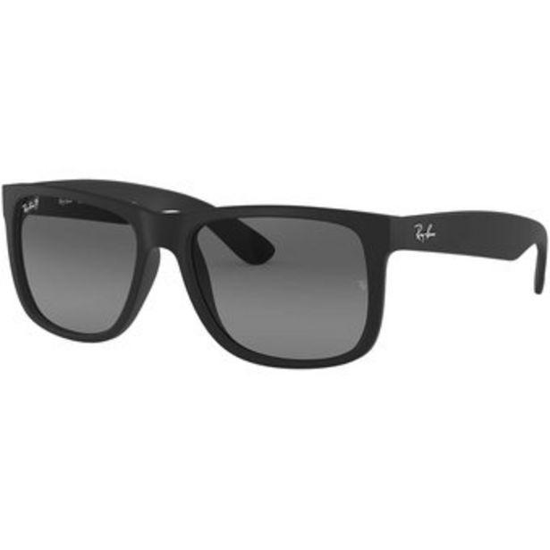 Oferta de Lentes de Sol Ray Ban Justin 622T3 Marco Negro Lente Negro Polarizado por $270000