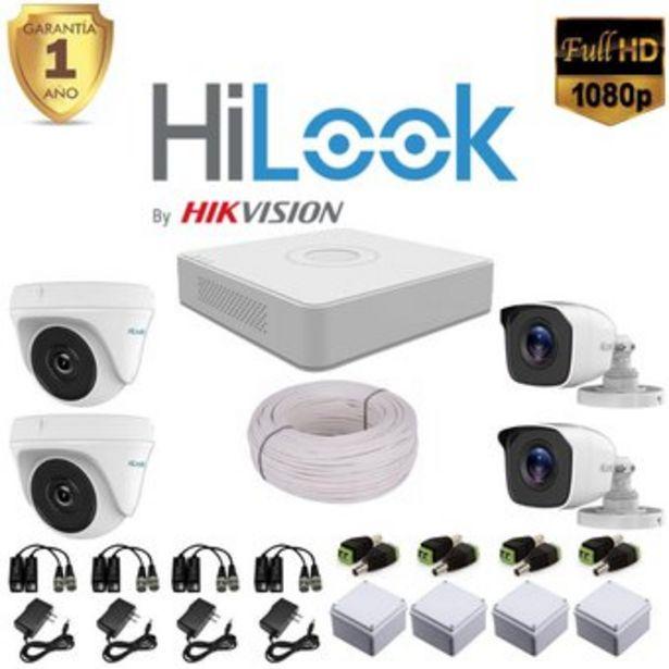Oferta de Cámaras De Seguridad Kit DVR Hilook 4 CH 1080 + 4 Cámaras 1080 + 50 Mt por $375000