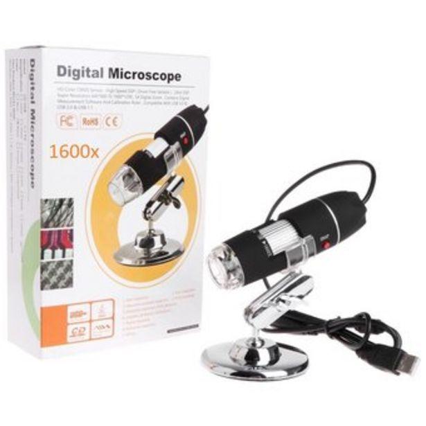 Oferta de Microscopio Digital 1600x Usb Con Luz Led Graduable por $93990