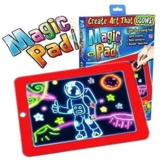 Oferta de Tableta De Dibujo Con Luz Led Magic Pad 3 Marcadores Gratis por $72900