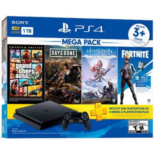 Oferta de Playstation 4 Slim Ps4 Slim Megapack + Gta v, Days Gone, Horizon Zero por $1849000