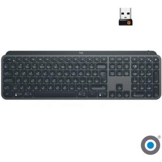 Oferta de Logitech Mx Keys Teclado Inalámbrico Retroiluminado Bluetooth USB - Negro por $380950