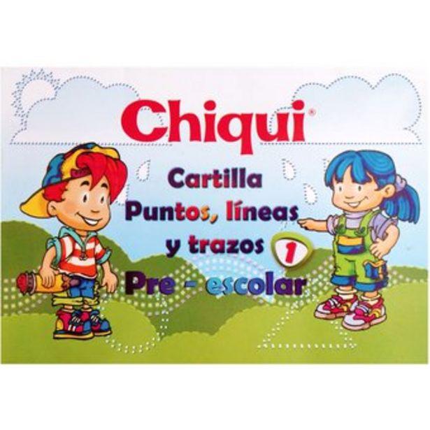Oferta de Cartilla Chiqui Puntos Lineas y Trazos Pre-escolar para niños por $7000