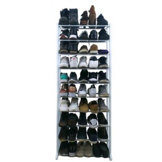 Oferta de Zapatera organizador de zapatos para 25 pares desarmable blanca por $89900