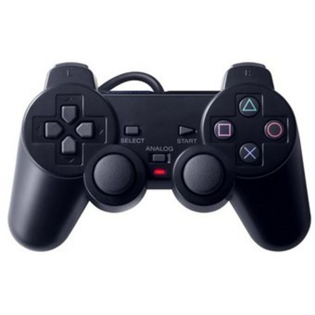 Oferta de Control Ps2 Play2 Dual Shock 2 Vibracion Playstation 2  - Negro por $18900