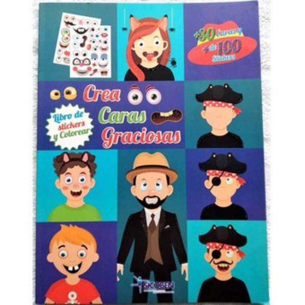 Oferta de Libro Stickers Colorear Sicoben - Crea Caras Graciosas por $21000