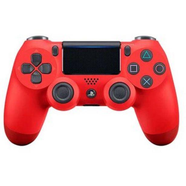 Oferta de Control Playstation 4 Ps4 Generico DualShock Led Tactil Recargable Rojo por $78400