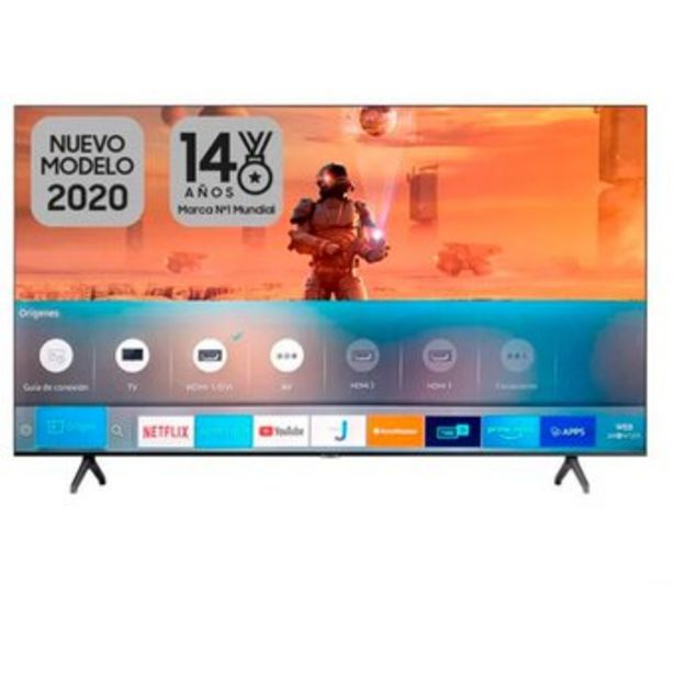"Oferta de TV Samsung 65"" 4K UHD Smart TV 65TU7000 por $2199990"
