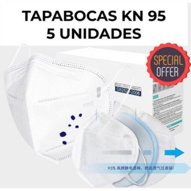 Oferta de Tapabocas KN 95 BOLSA DE 5 UNIDADES importado KN95 N95 INVIMA por $9900
