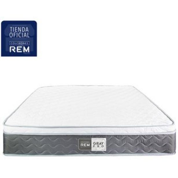 Oferta de Colchon Doble 140x190 Rem Gray Pro Firme por $479900