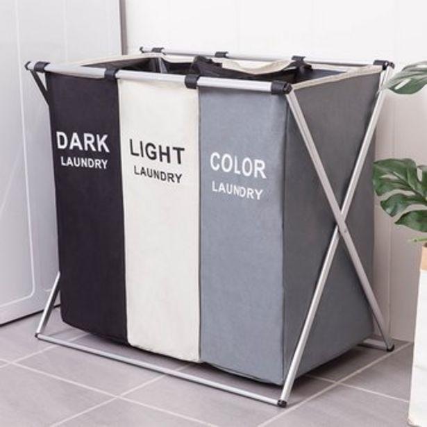 Oferta de Cesto de almacenaje de ropa sucia rejillas 3 rejillas: 68*38*60cm por $150217