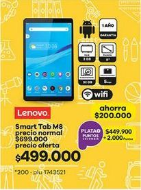 Oferta de Tablet Lenovo Lenovo por $499000
