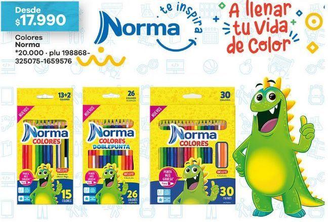 Oferta de Lápices de colores Norma por $17990