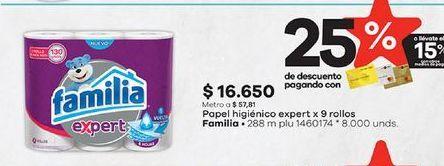 Oferta de Papel higiénico Familia por $16650