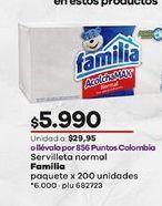 Oferta de Servilletas de papel Familia por $5990