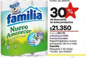 Oferta de Papel higiénico Familia por $21350