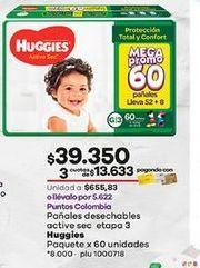 Oferta de Pañales Huggies por $39350