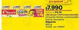 Oferta de Postres lácteos Alquería por $7990
