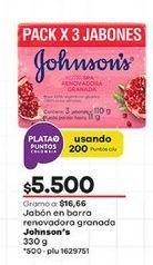 Oferta de Jabón de tocador Johnson's por $5500