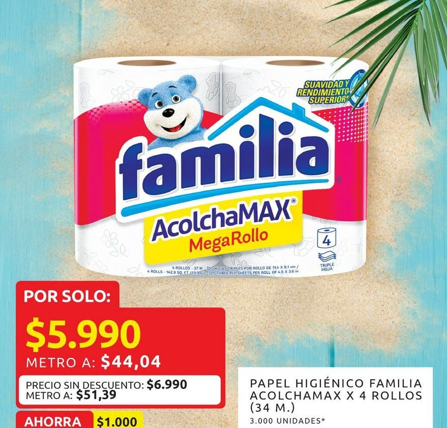 Oferta de Papel higiénico Familia por $5990