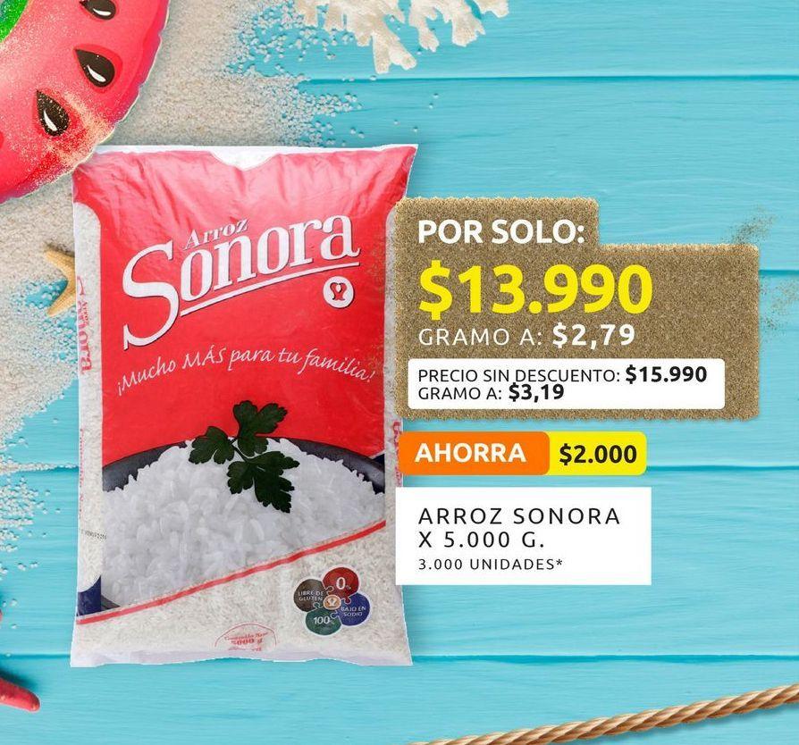 Oferta de Arroz Sonora 5000g por $13990