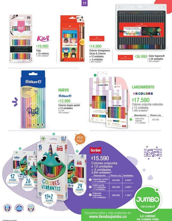 Oferta de Lápices de colores por