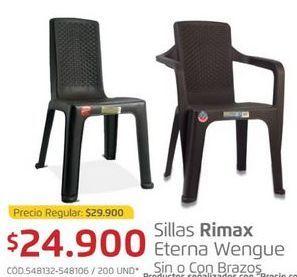 Oferta de Silla de plástico Rimax por $24900