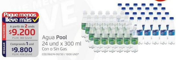 Oferta de Agua Pool por $9800