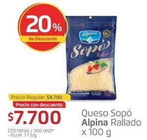 Oferta de Queso rallado Alpina por $7700