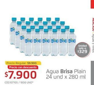 Oferta de Agua brisa plain 24und x 280ml  por $7900