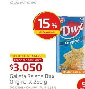 Oferta de Galleta salada 250g  Dux por $3050
