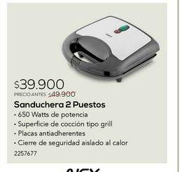 Oferta de Sandwichera Nex por