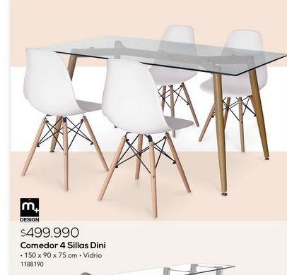 Oferta de Comedor 4 sillas dini por $499990