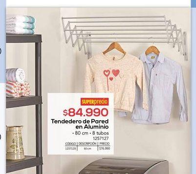 Oferta de Tendedero de pared en aluminio por $84990