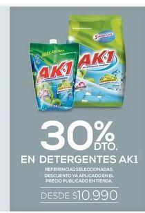 Oferta de 30% dto en detergentes ak1 por