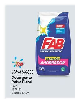 Oferta de Detergente polvo floral por $29990
